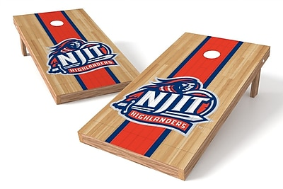 Tailgate Toss NCAA Hardwood Game Cornhole Set; NJIT Highlanders