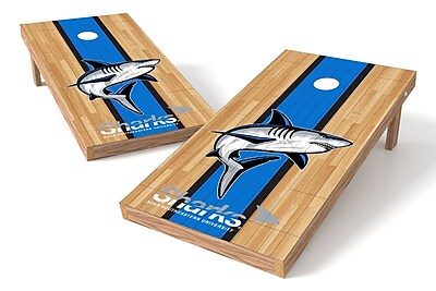 Tailgate Toss NCAA Hardwood Game Cornhole Set; Nova Southeastern Sharks