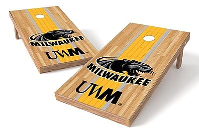 Tailgate Toss NCAA Hardwood Game Cornhole Set; Wisconsin-Milwaukee Panthers