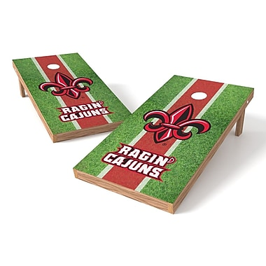 Tailgate Toss NCAA Field Cornhole Game Set; Louisiana Lafayette Rajin' Cajuns