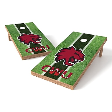 Tailgate Toss NCAA Field Cornhole Game Set; Central Washington Wildcats