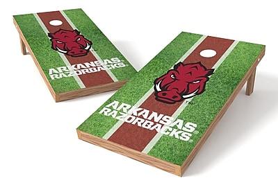 Tailgate Toss NCAA Field Game Cornhole Set; Arkansas Razorbacks