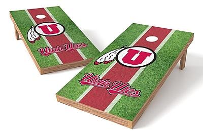 Tailgate Toss NCAA Field Game Cornhole Set; Utah Utes