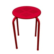 Atlantic® 38436113 Dar Daisy Stackable Side Stool, Red, 2/Pack
