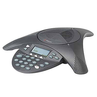 Polycom® Soundstation2™ 2200-16000-001 1-Line Non-Expandable Conference Phone with Display, Black