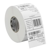 "Zebra® Z-Ultimate 4000T Permanent Adhesive Thermal Transfer Label, 1 1/2"" x 1/2"", Pearl White, 4/Roll (10011706)"