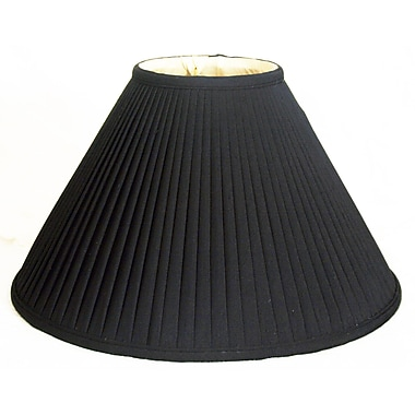RoyalDesigns Timeless 14'' Silk Empire Lamp Shade; Black/Off White