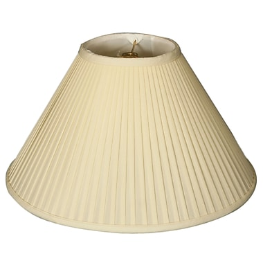 RoyalDesigns Timeless 16'' Silk Empire Lamp Shade; Eggshell/Off White