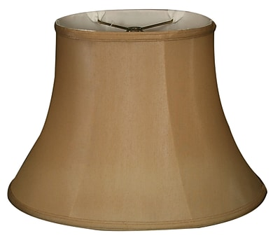 RoyalDesigns Timeless 10'' Silk Bell Lamp Shade; Antique Gold/Off White