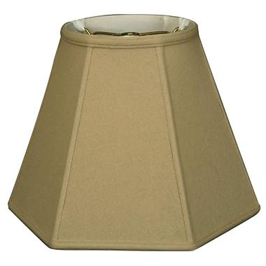 RoyalDesigns Timeless Hexagon 12'' Linen Empire Lamp Shade; Beige