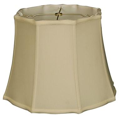 RoyalDesigns Timeless 18'' Silk Bell Lamp Shade; White/Off White