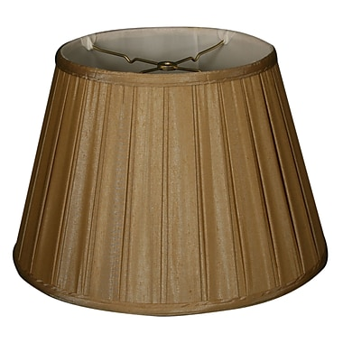 RoyalDesigns Timeless 14.5'' Silk Empire Lamp Shade; Antique Gold/Off White
