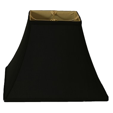 RoyalDesigns Timeless 10'' Silk Bell Lamp Shade; Black Gold/Off White