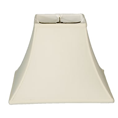 RoyalDesigns Timeless 16'' Silk Bell Lamp Shade; White/Off White