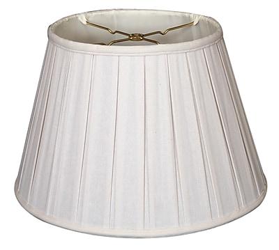 RoyalDesigns Timeless 19'' Linen Empire Lamp Shade; White