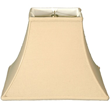 RoyalDesigns Timeless 14'' Linen Bell Lamp Shade; Beige