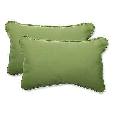 Pillow Perfect Canvas Indoor Outdoor Sunbrella Lumbar Pillow (Set of 2); Ginko
