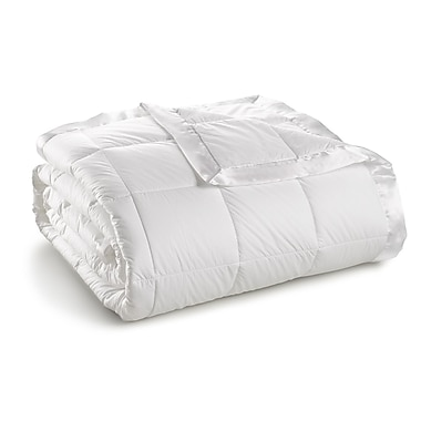 Sharper Image 370 Thread Count Year Round Down Alternative 100pct Cambric Cotton Blanket; Twin