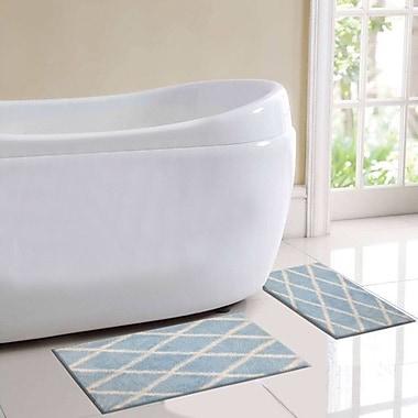 BHPNY St. Tropes 2 Piece Bath Rug Set; Blue