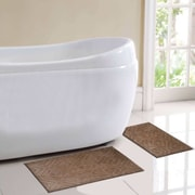 BHPNY Milan 2 Piece Bath Rug Set; Brown