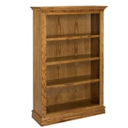 A&E Wood Designs Britania 60'' Standard Bookcase; Light