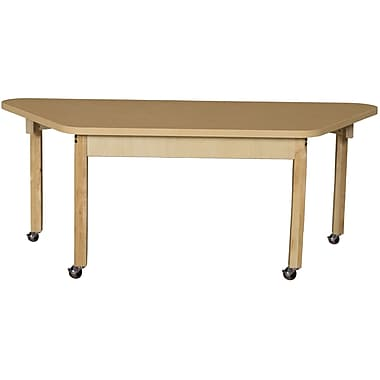 Wood Designs 60'' x 30'' Trapezoidal Activity Table; 16''