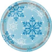 Creative Converting Snowflake Swirls Plates, 8 pack (317150)