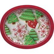 Creative Converting Holiday Treats Oval Plates, 8 pack (317474)