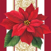 Creative Converting Poinsettia Lace Beverage Napkins, 16 pack (317118)