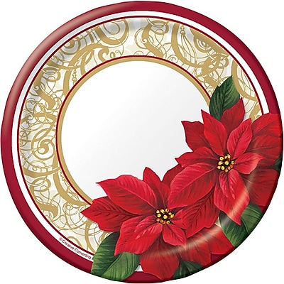Creative Converting Poinsettia Lace Dessert Plates, 8 pack (317120) 2453666