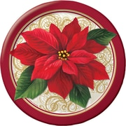 Creative Converting Poinsettia Lace Plates, 8 pack (317121)