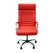 Winport Industries Leather Executive Chair; Red