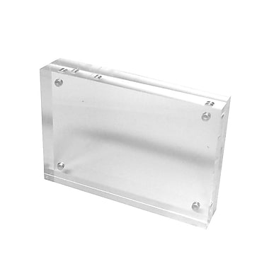 FuTECH – Porte-affiche magnétique de comptoir CTS0199, 5,9 x 3,9 po, transparent, acrylique, paq./6