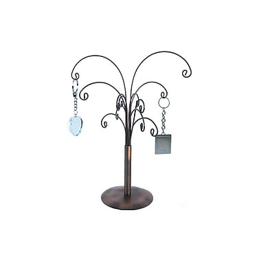 FuTECH JE-CO14 Wire Steel Jewellery Display, Copper, 12 Hooks, 2/Pack