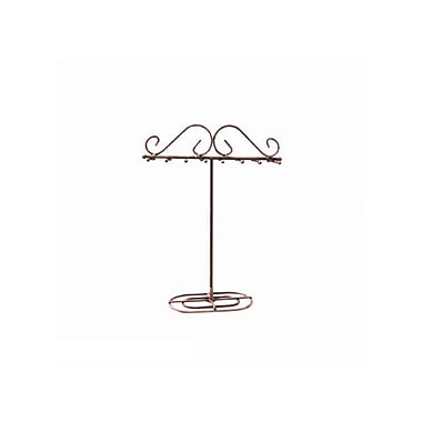 FuTECH JE-CO15 Wire Steel Jewellery Display, Copper, 16 Hooks, 2/Pack