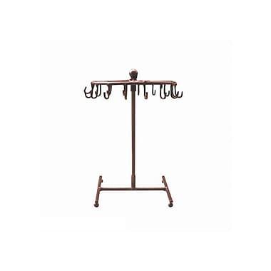FuTECH JE-CO16 Wire Steel Jewellery Display, Copper, 16 Hooks, 2/Pack