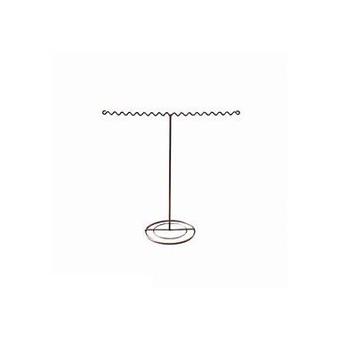 FuTECH – Présentoir de bijoux en fil métallique, cuivre, 16 fentes, paq./2 (JE-CO17)