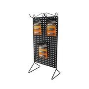 FuTECH – Présentoir distributeur de comptoirs à deux côtés en métal, noir, 12 crochets (A91)