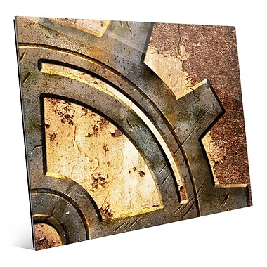 Click Wall Art 'Rusty Gear' Graphic Art; 20'' H x 24'' W x 1'' D