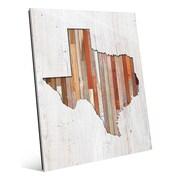 Click Wall Art 'Texas Lumber' Wall Art; 24'' H x 20'' W x 1'' D