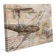 Click Wall Art 'Map of the Sky' Graphic Art on Wrapped Canvas; 11'' H x 14'' W x 1.5'' D
