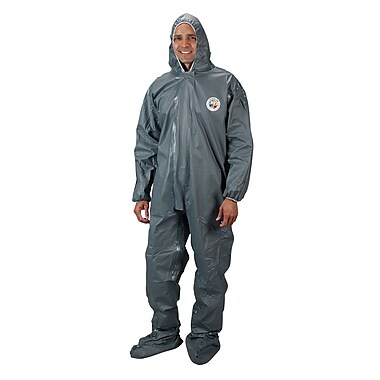 Lakeland Coverall, Hood, Pyrolon Cr/Fr, 2Mil, Boot/Wrist, 2XL (51150-2XL)