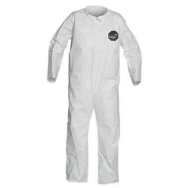 Dupont Personal Protection Coverall, Proshield 50, Zipper Front, White, XL, 25/Pack (NB120SWHXL002500)