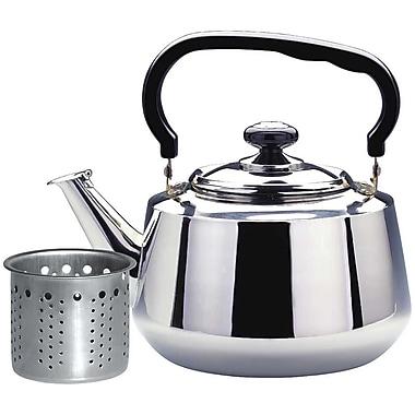 Alpine Cuisine Stainless Steel Tea Kettle; 7.6'' H x 6'' D x 6'' W