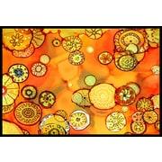 Caroline's Treasures Abstract Flowers Doormat; 2' x 3'
