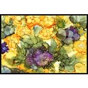 Caroline's Treasures Abstract Flowers Doormat; 1'6'' x 2'3''