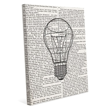 Click Wall Art 'Reading Inspire Ideas' Graphic Art on Wrapped Canvas; 36'' H x 24'' W x 1.5'' D
