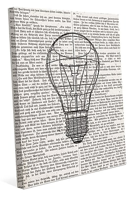 Click Wall Art 'Reading Inspire Ideas' Graphic Art on Wrapped Canvas; 24'' H x 20'' W x 1.5'' D