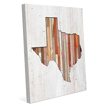 Click Wall Art 'Texas Lumber' Wall Art on Wrapped Canvas; 20'' H x 16'' W x 1.5'' D