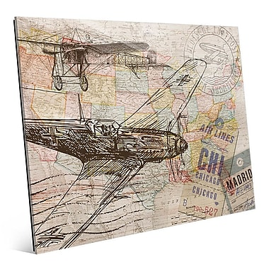Click Wall Art 'Map of the Sky' Graphic Art; 8'' H x 10'' W x 1'' D
